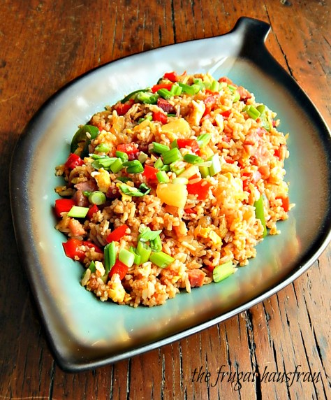 Hawaiian Fried Rice with Ham & Pineapple