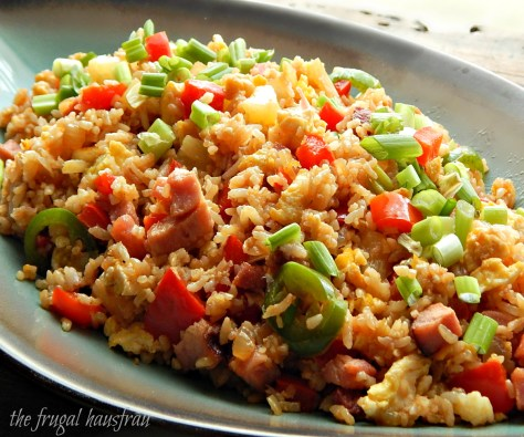 Hawaiian Fried Rice with Ham & Pineapple