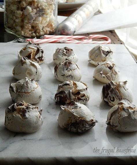 Chocolate Swirl Meringue Cookies