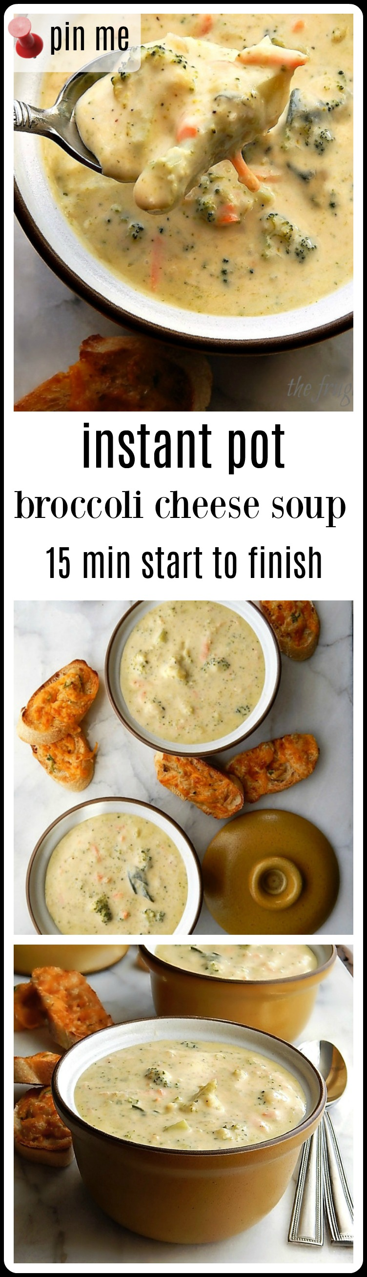Broccoli Cheese Soup - So quick and easy and really outstanding. The best soup ever with tender bites of broccoli in a silky, creamy soup. 15 minutes start to finish. #InstantPotBroccoliCheddarSoup #InstantPotBroccoliCheeseSoup