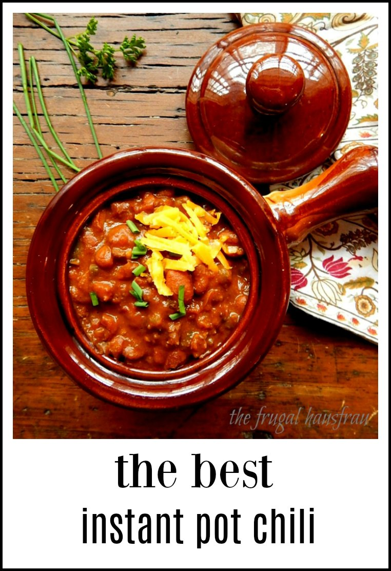All the flavor of a long-simmered competition style chili, the Best Instant Pot Chili is going to blow you away. Start with soaked & cooked beans. #BestInstantPotChili #BestIPChili