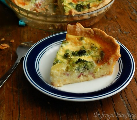 Easy Broccoli, Ham & Cheese Quiche