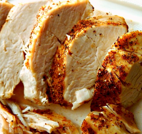 Perfectly Cooked Instant Pot Chicken - large batch for meal prep. Firm enough to slice, tender enough to shred.