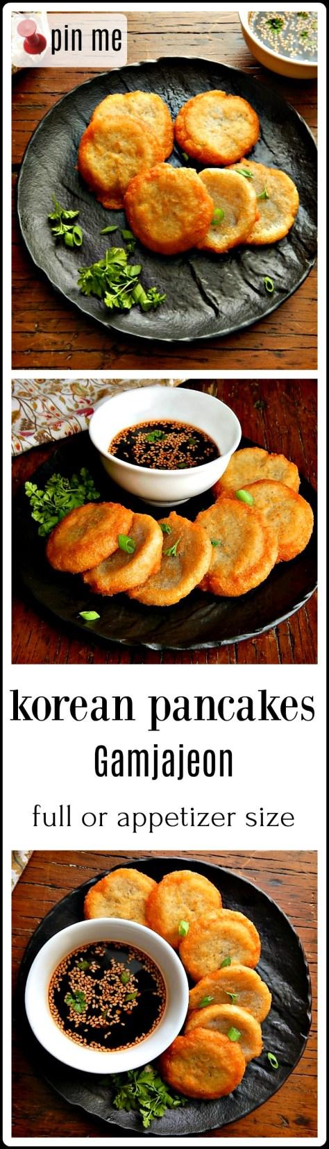 Korean Pancakes - crispy, crunchy deliciousness with a creamy center. Like the best latkes, ever!