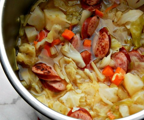 Smoked Sausage & Cabbage Soup