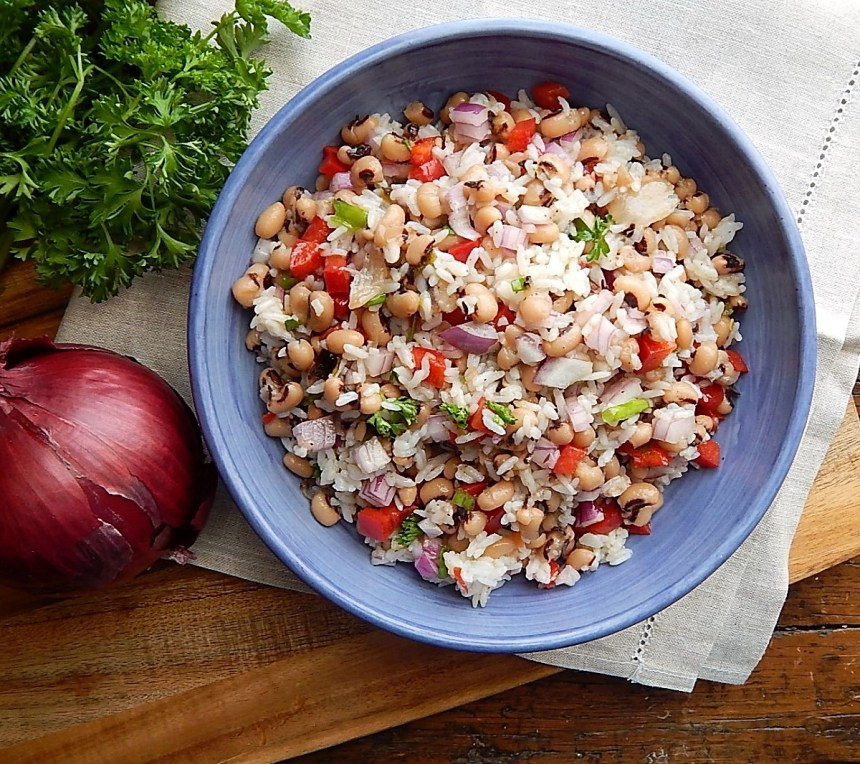 lack Eyed Pea & Rice Salad