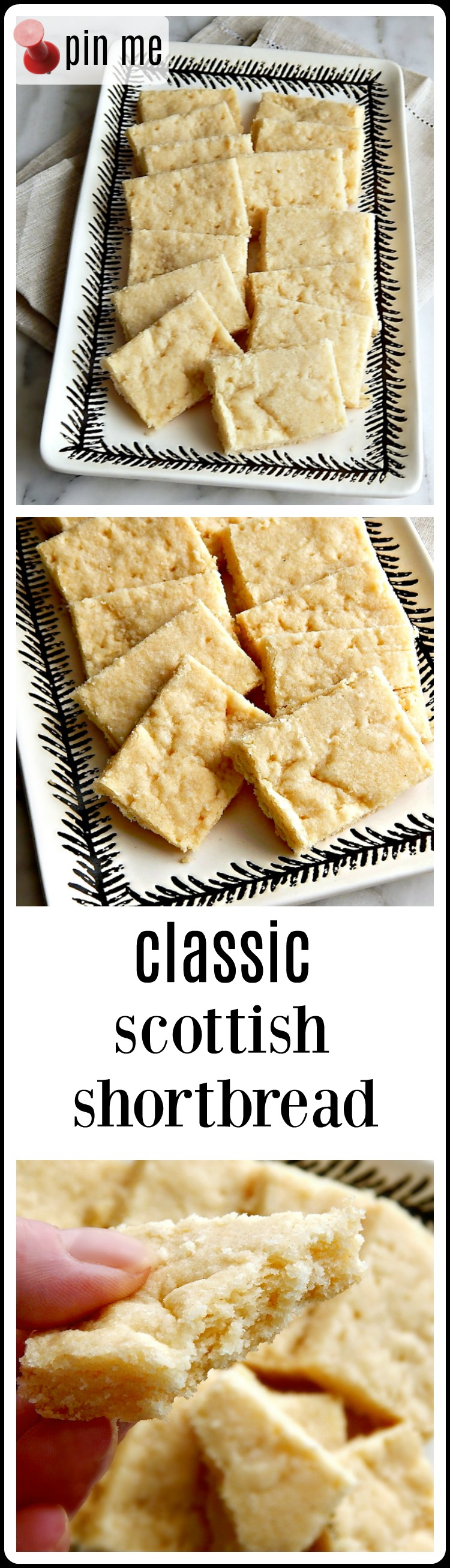I love Classic Scottish Shortbread. Simple buttery melt in your mouth Shortbread. Ok, it's no Chocolate Chip Cookie, but other than that Classic Scottish Shortbread is everything. This recipe is so good, it will make a Scotsman Weep. #Shortbread #ClassicShortbread #ClassicScottishShortbread