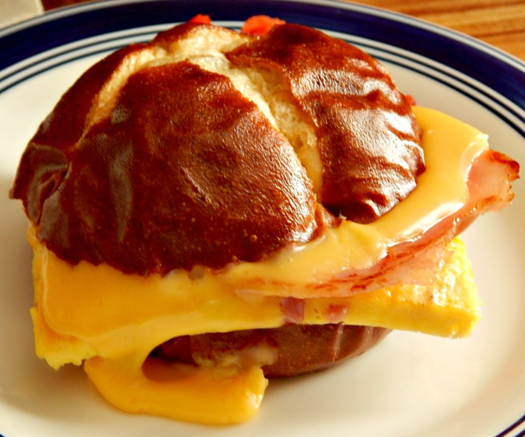 Best Creamy Sheet PanEggs in a Breakfast Sandwich