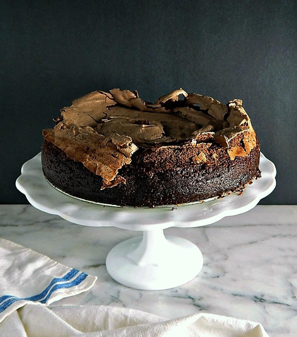 Chocolate Meringue Brownies Cake