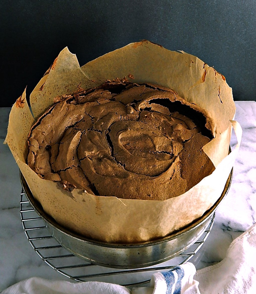 Chocolate Meringue Brownies Cake