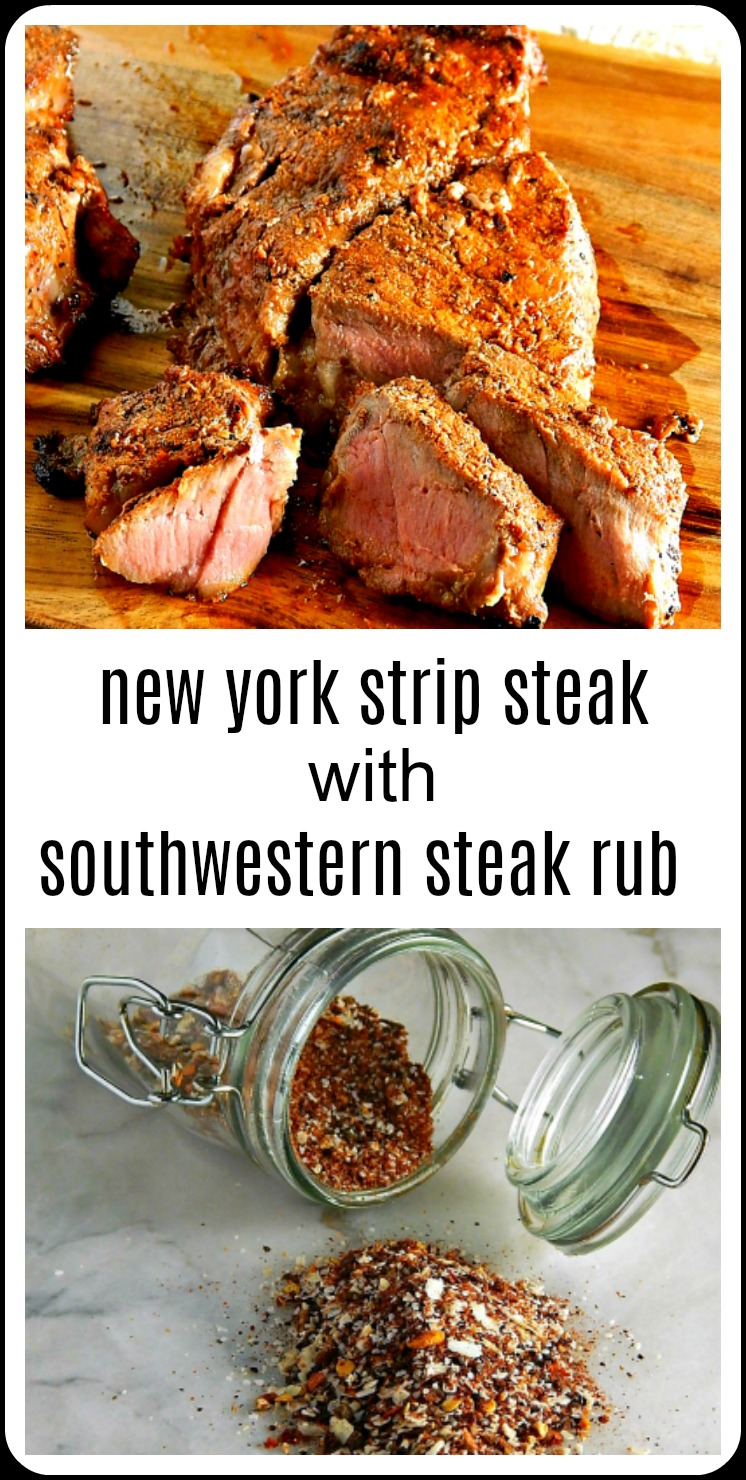 Why not go big and bold on the flavors, like a New York Strip Steak with Southwestern Rub for Father's day? The perfect steak with the perfect seasoning! It's like a Southwestern Montreal Steak Seasoning #NewYorkStrip #GrilledNewYorkStrip #SouthwesternSteakRub