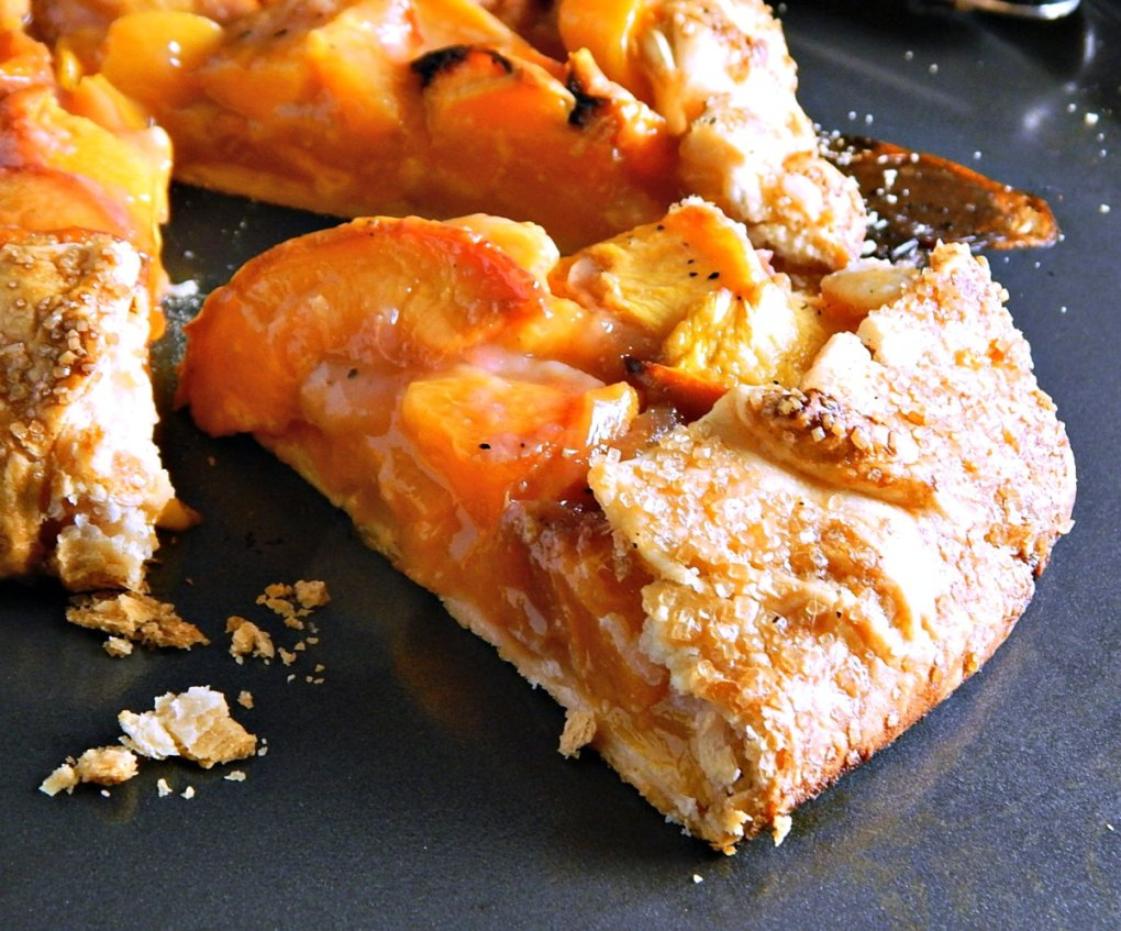Bourbon Brown Sugar Peach Crostata