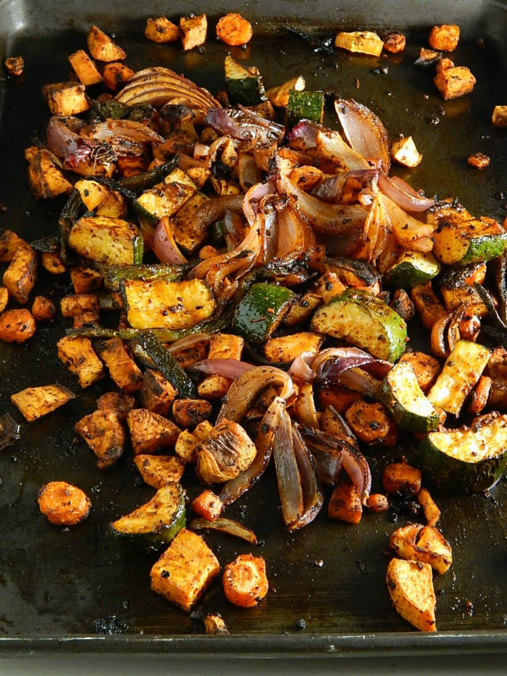 Smoky Sheet Tray Roasted Vegetables