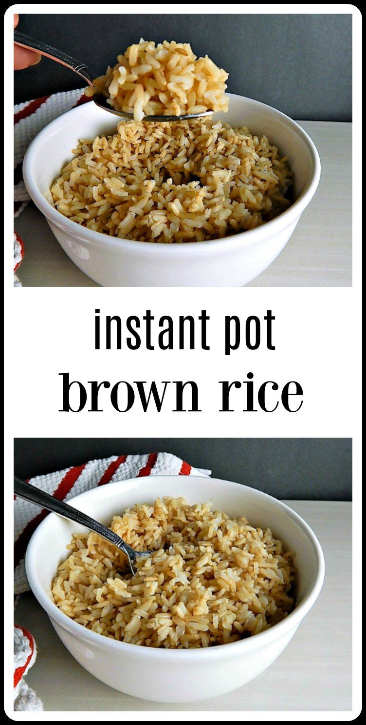 Instant Pot Brown Rice is a game changer! Have chewy, nutty & perfect no-hassle Brown Rice in minutes when you use your Instant Pot. #InstantPotBrownRice #BrownRiceInTheInstantPot