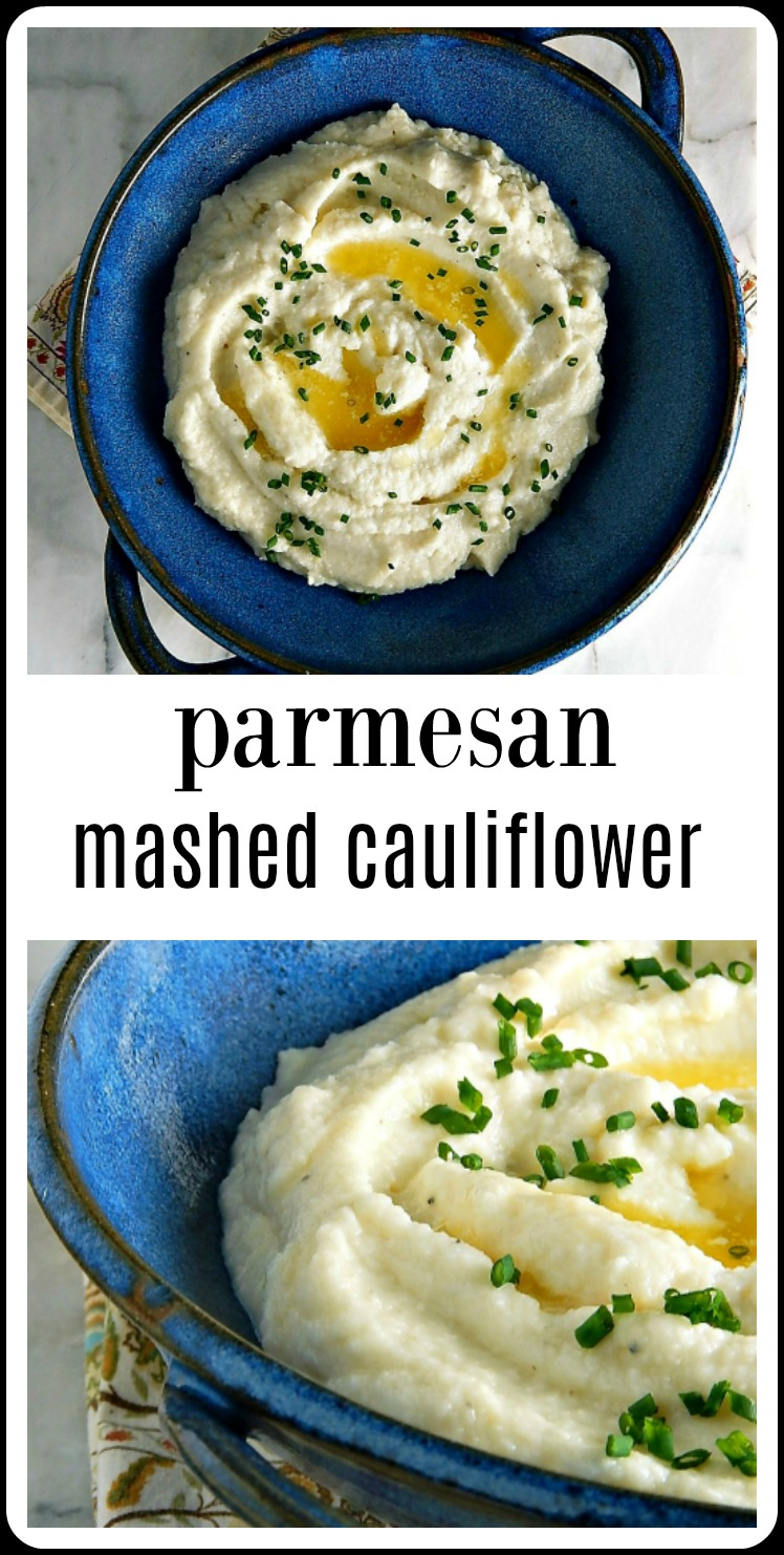 Parmesan Mashed Cauliflower can be a decent low carb alternative to Mashed Potatoes - if you know a few tricks to get it right! #ParmesanMashedCauliflower #MashedCauliflower #InstantPotMashedCauliflower