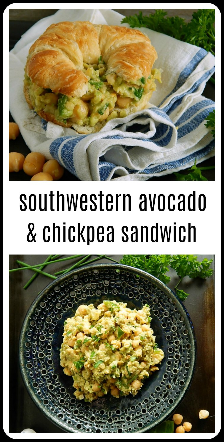 Finally a smashed Chickpea and Avocado Sandwich worth eating & full of flavor: Southwestern Smashed Chickpea Avocado Sandwich. #SmashedChickpeaAvocadoSandwich #SouthwesternChickpeaAvocadoSandwich