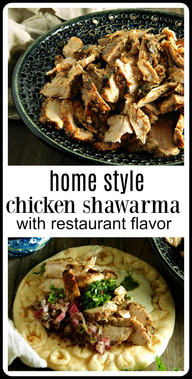 Ditch the finicky methods & have Home Style Chicken Shawarma with all the exotic flavor of the restaurant version. It's easier than you think! #ChickenShawarma #HomeStyleChickenShawarma #ChickenShawarmaGrilled #ChickenShawarmaBaked