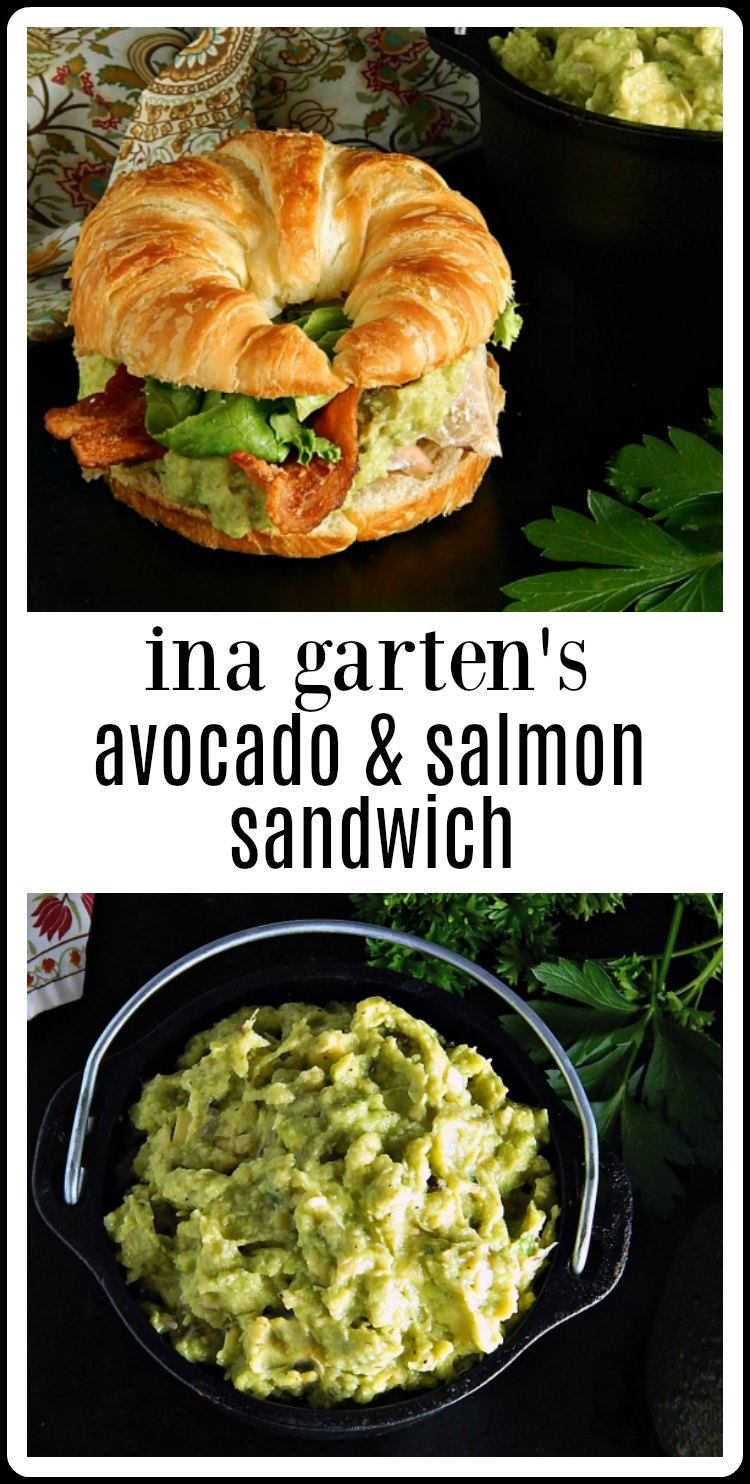 Ina Garten's Salmon & Guacamole Sandwich is the most amazing combination of flavors! So easy, so fresh, so good and so healthy! The best! #InaGartenSalmonGuacamoleSandwich #GuacamoleSalmonSandwich