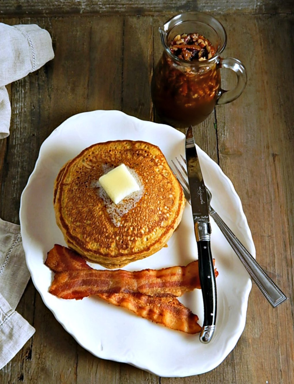 Perfect Pumpkin Spice Pancakes