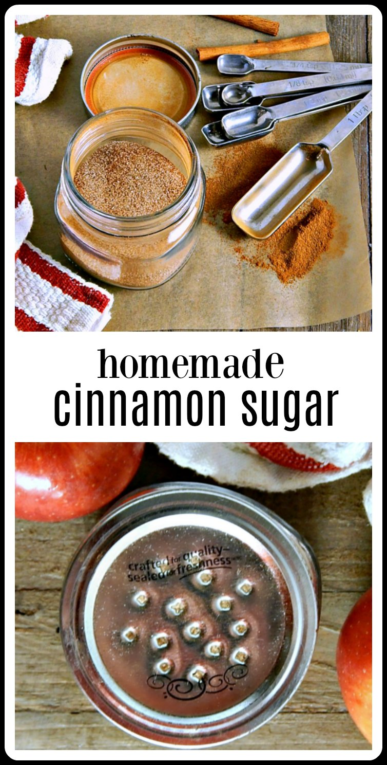 There's no need to buy cinnamon sugar - just make your own Homemade Cinnamon Sugar in minutes for a fraction of the cost. #HomemadeCinnamonSugar