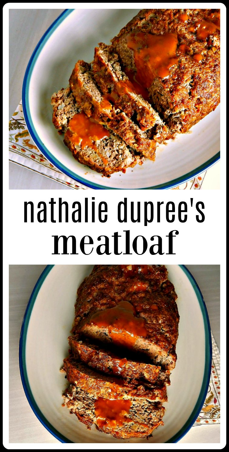 Nathalie Duprees Meatloaf is bound to become a family favorite. It\'s super easy and of course, delish, and that sauce takes it over the top! #Meatloaf #NathalieDupreesMeatloaf