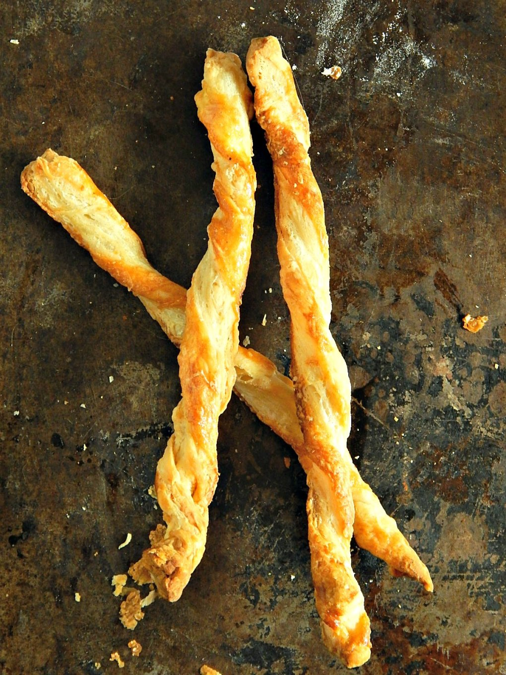 Parmesan Puff Pastry Twists made from leftover Puff Pastry