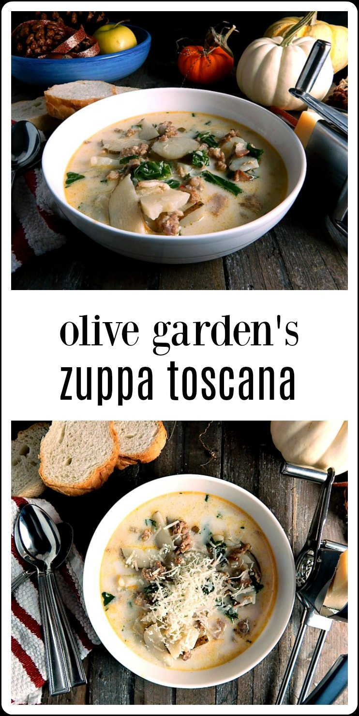 Olive Garden's Zuppa Toscana Copycat is my fave comfort food; so flavorful and perfect on any winter day. This is the OG original recipe that used to be on their website and it's quick and easy. #ZuppaToscana #OliveGardenZuppaToscana #OliveGardenZuppaToscanaRecipe