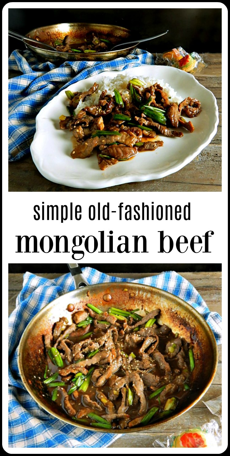 This Easy, Super fast Lighter Mongolian Beef is just really old-school Mongolian Beef without all the sugar in so many recipes made today. Tons of flavor, no added sugar. It does need to marinate so plan ahead. #MongolianBeef #LighterMongolianBeef