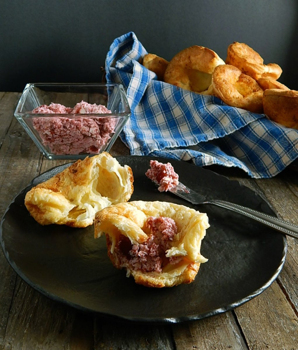 Strawberry Butter & Popovers in a Muffin Tin