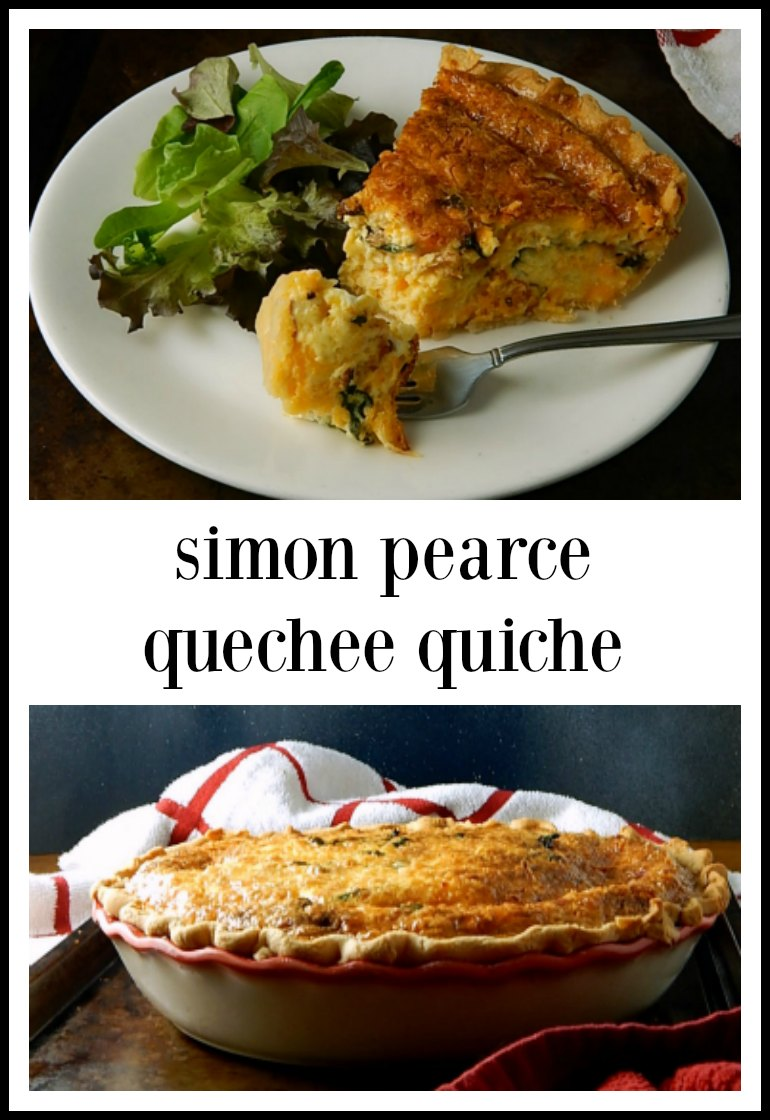 It might be called Simon Pearce Quechee Quiche, but it should be called Cheesy Quice! This has an amazing sharp Cheddar flavor! Use bacon or ham. Easy & no fuss! #SimonPearceQuiche #SimonPearceQuecheeQuiche #SimonPearceRestaurantQuiche