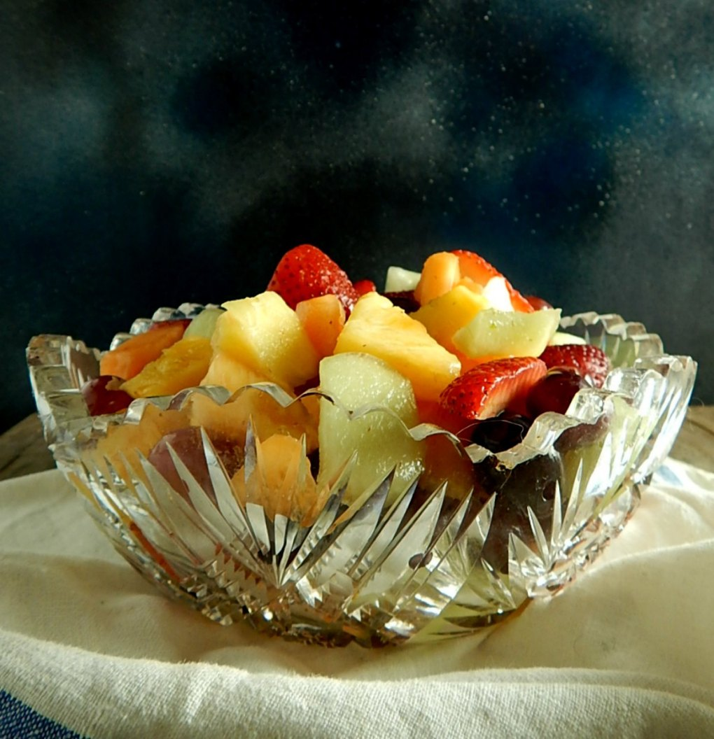 Honey Ginger Lime Fruit Salad