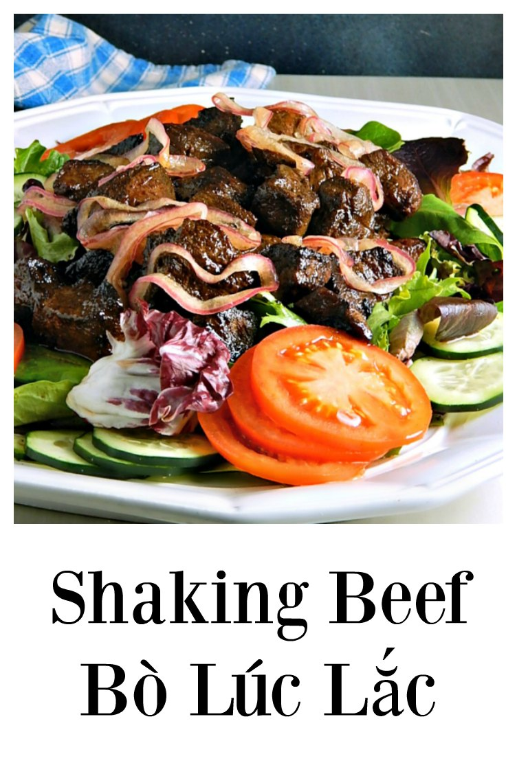 Shaking Beef - Bò Lúc Lắc has flavor for days! A restaurant quality meal that's fast, fresh and easy - it's mostly just about assembly. #ShakingBeef #BòLúcLắc