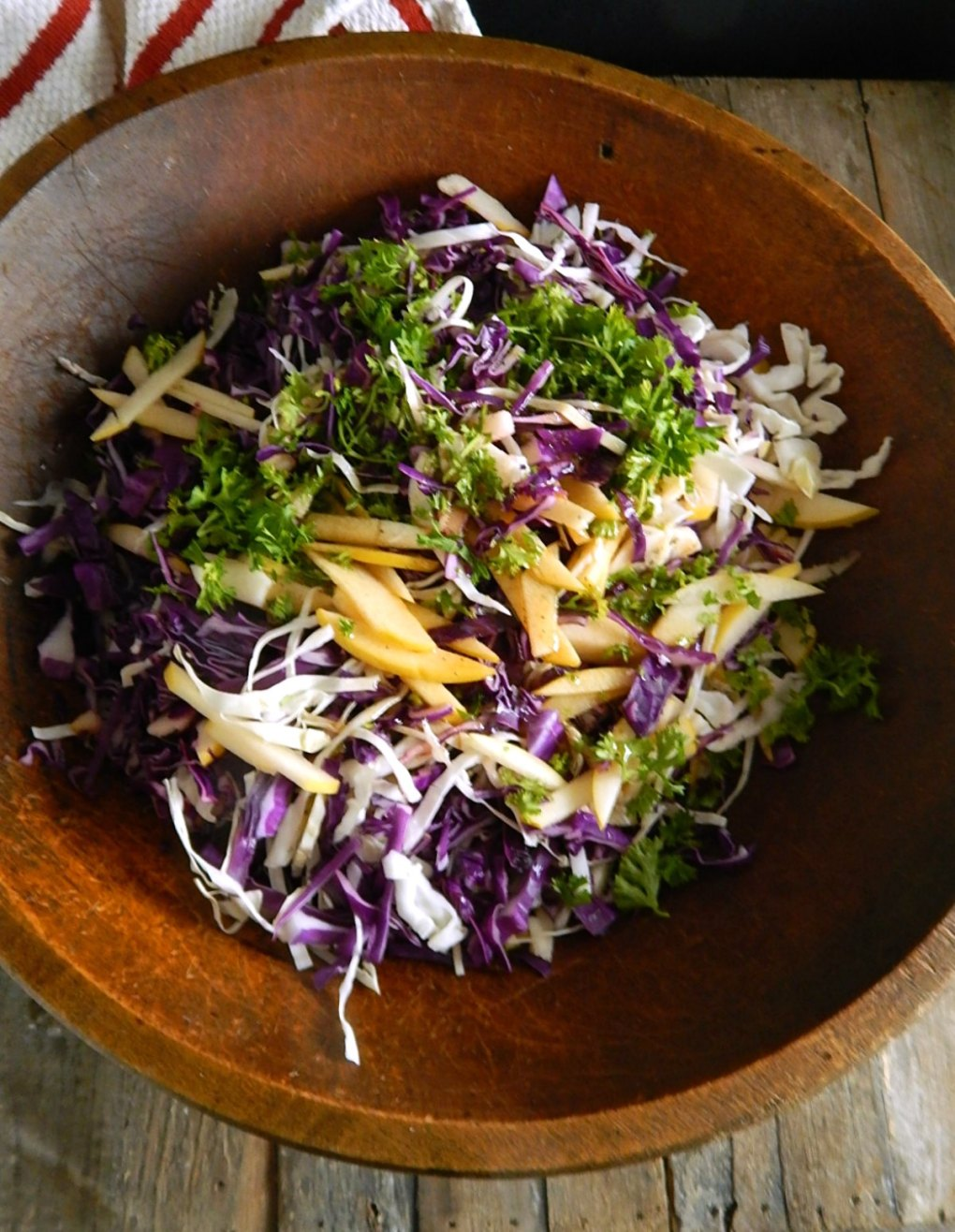 Tangy Apple Cabbage Slaw