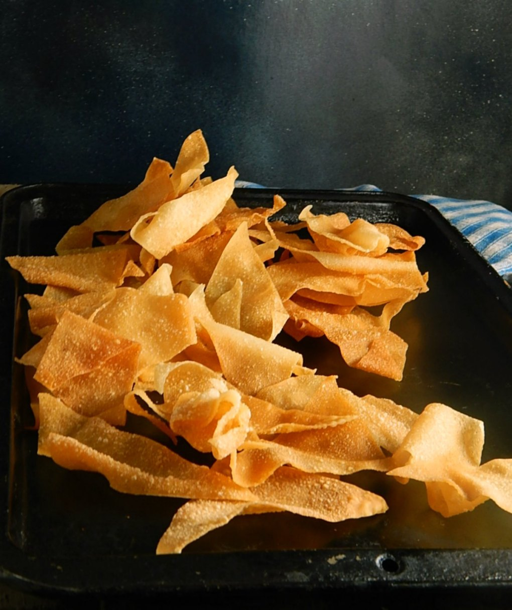Wonton Chips Baked or Fried
