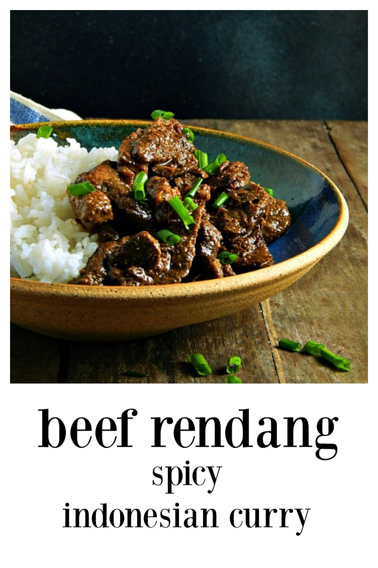 Beef Rendang - Indonesian Curry is surprising in its intensity. It's multiple layers of flavor in this tender beef dry curry. Serve with rice. #BeefRendang #BeefRendangIndonesianCurry #BeefCurry