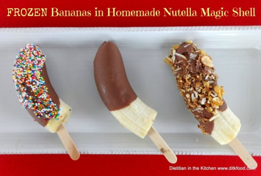 Frozen Banans in Nutella Magic Shell from Sweet Cayenne