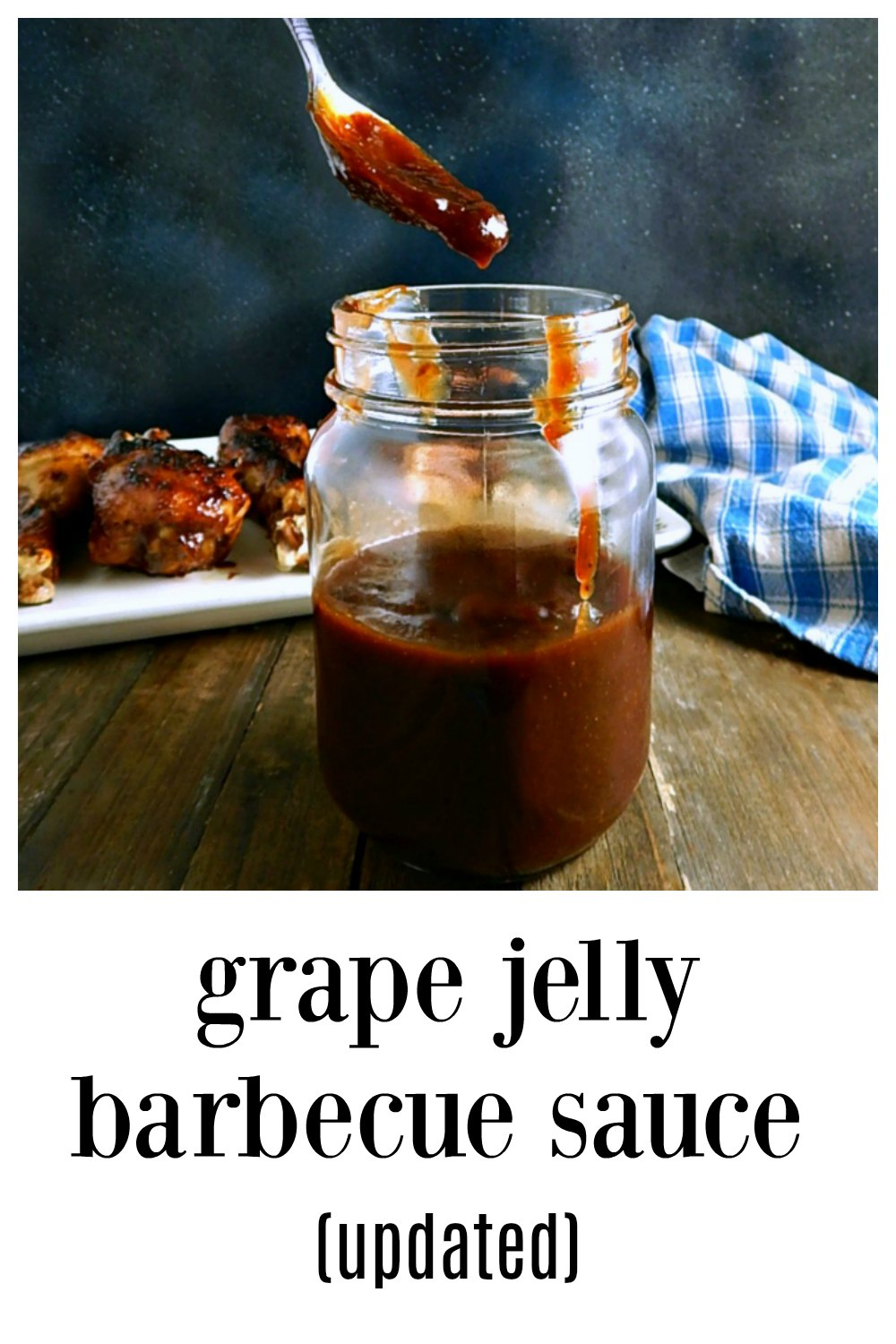 There's a reason this oddity of a recipe, Easy Grape Jelly Barbecue Sauce has stood the test of time...it's insanely delicious! Add a few modern ingredients and It's even better. #GrapeJellyBarbecueSauce #GrapeJellyHeinzChiliSauceBarbecueSauce #ChiliSauceGrapeJellyBarbecueSauce #BarbecueSauce