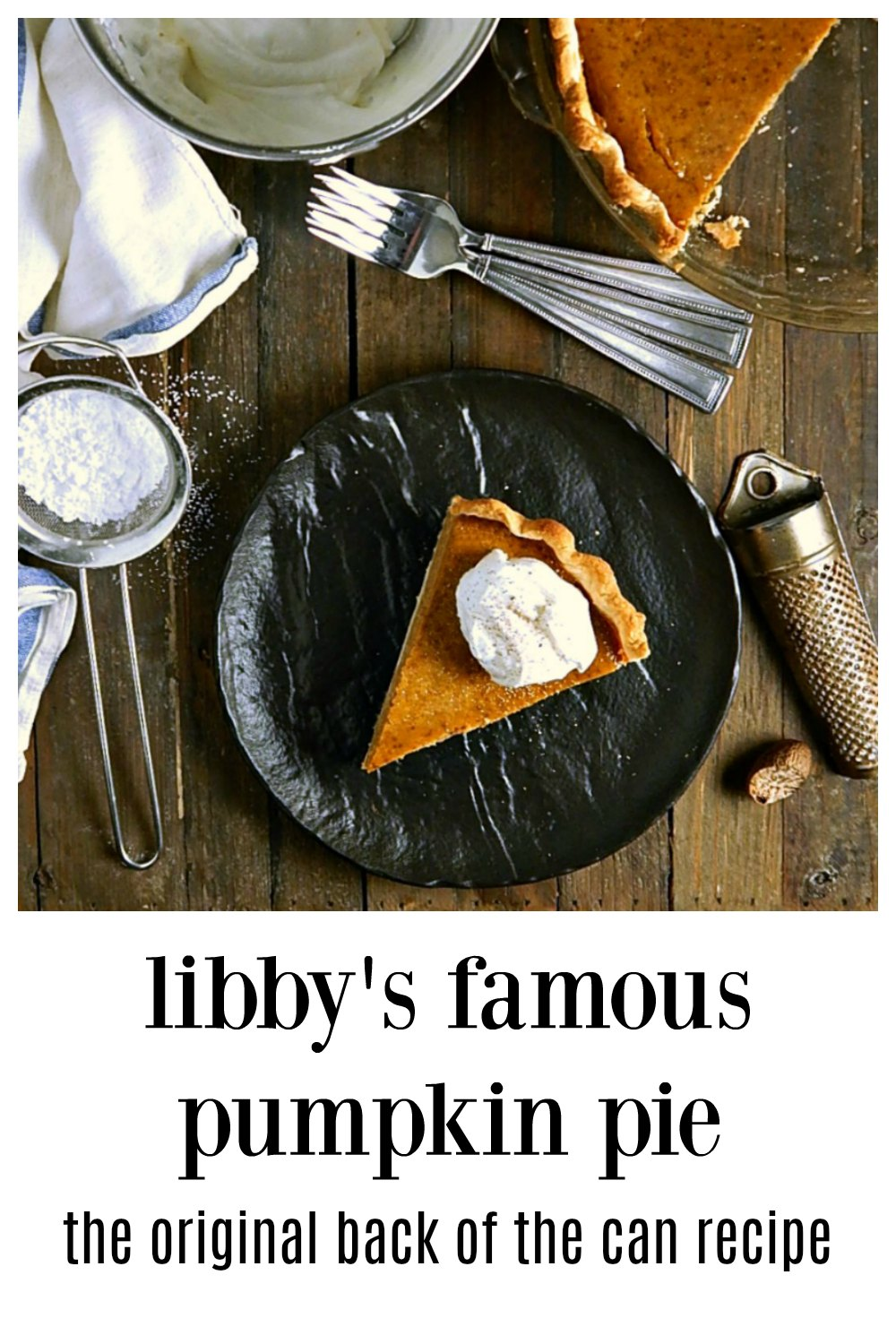"Libby's Famous Pumpkin Pie is it, the one so many of us grew up, the old Back of the Can Recipe and it's still a classic! Super fast to make, super easy and oh so familiar. It tastes like ""home."" #LibbysPumpkinPie #LibbysOriginalPumpkinPie #LibbysPumpkinPieBackOfTheCan #LibbysClassicPumpkinPie #LibbysFamousPumpkinPie"