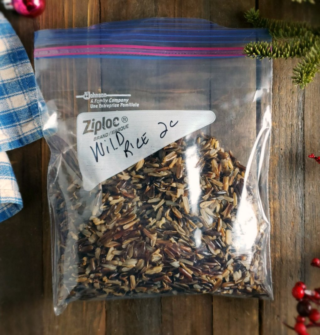 Wild Rice Bagged to Freeze