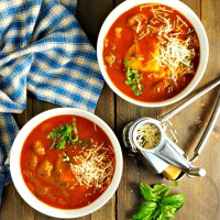 Easy Tomato Ravioli Soup