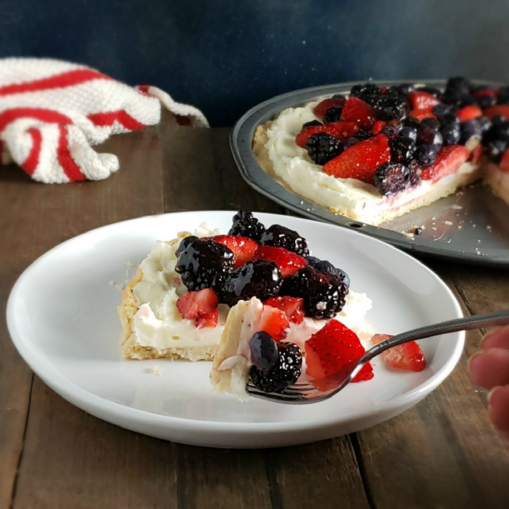 White Chocolate Fruit Pizza
