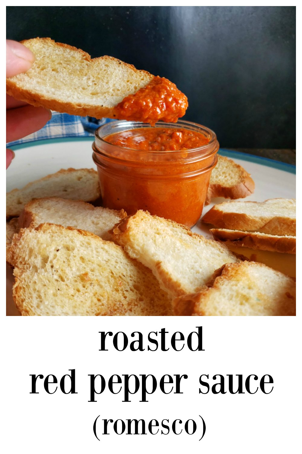 Roasted Red Pepper Sauce, Romesco, quick & easy blender sauce that you'll want to put on just about everything! #RoastedRedPepperSauce #RedPepperSauce #Romesco #RomescoSauce