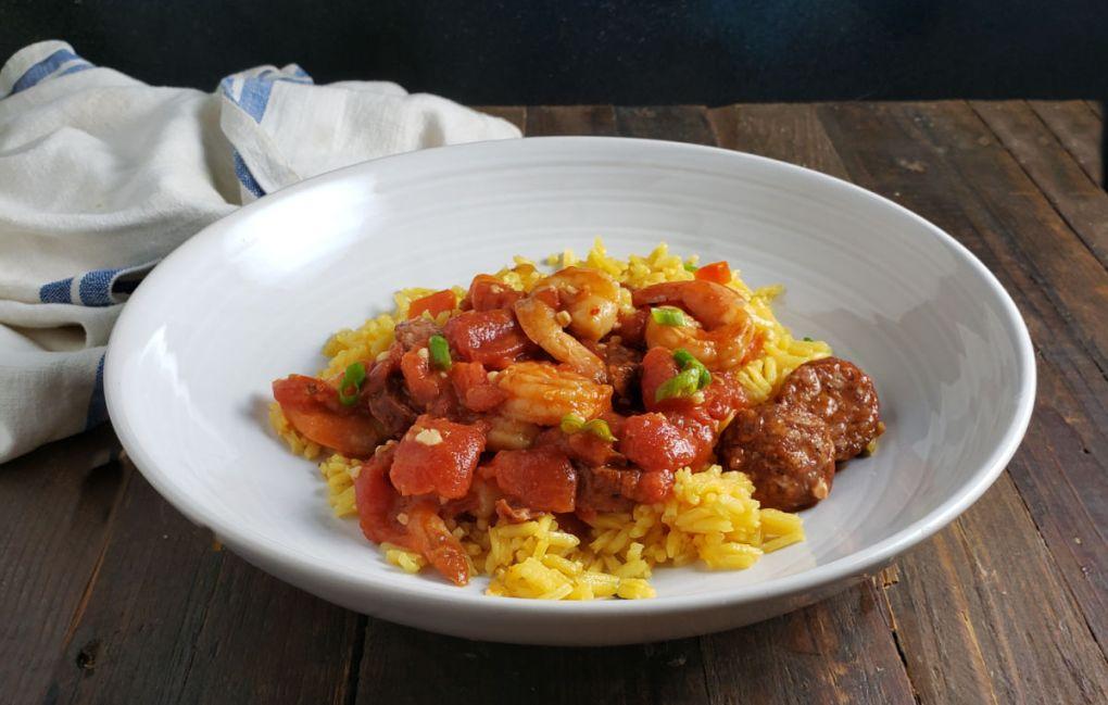 Spanish Shrimp & Chorizo