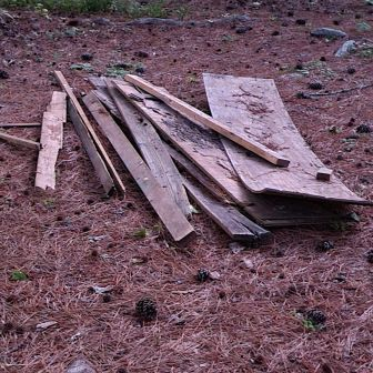 There was no end to the piles of lumber and garbage