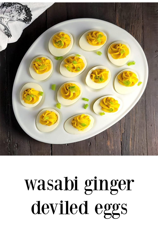 pin wasabi ginger deviled eggs