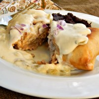 Steak Chimichanga with Green Chili (Verde) Sauce