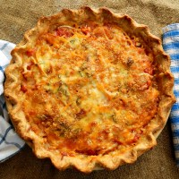 Cheesy Tomato & Vidalia Pie