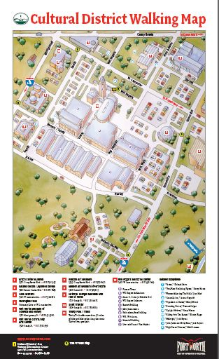 FW Cultural District Walking Map