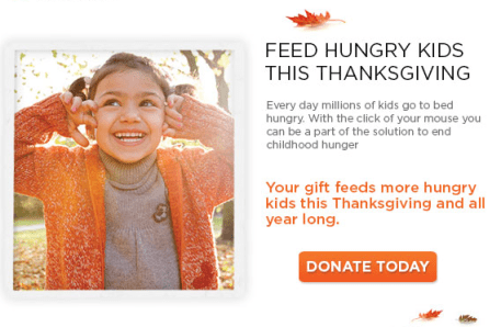 Feed Hungry Kids This Thanksgiving