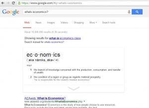 Google Search Economics Answers